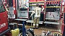 Reinigung der Fahrzeughalle